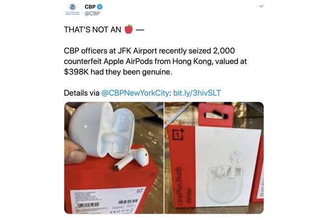 Mỹ: 2.000 tai nghe OnePlus Buds bị bắt giữ vì quá giống AirPods