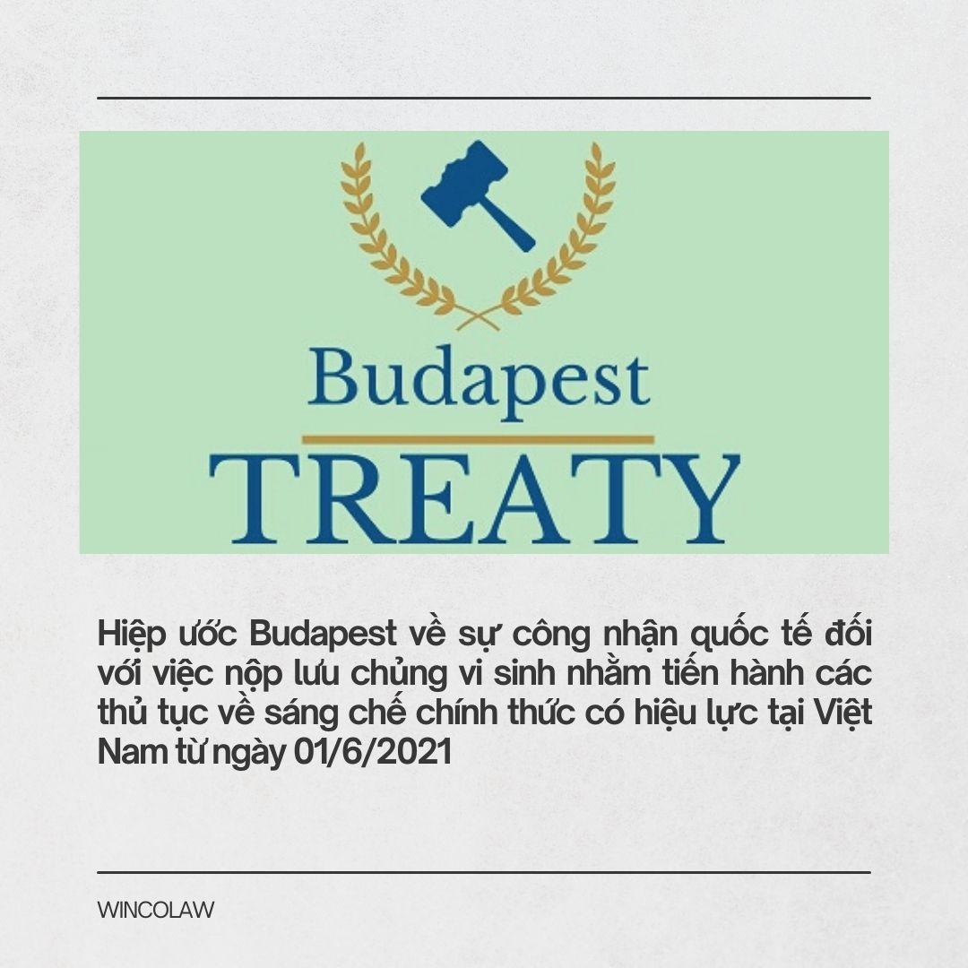 Hiệp ước Budapest về sự công nhận quốc tế đối với việc nộp lưu chủng vi sinh nhằm tiến hành các thủ tục về sáng chế chính thức có hiệu lực tại Việt Nam từ ngày 01/6/2021.